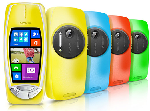 Nokia 3310 con Windows Phone y cámara de 41 MP PureView  colores