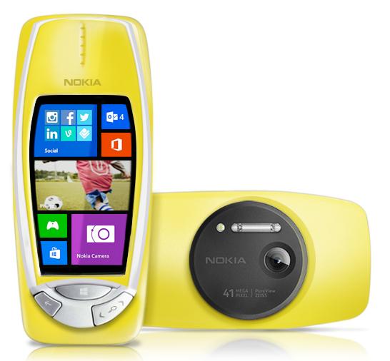 Nokia 3310 con Windows Phone y cámara de 41 MP PureView color Amarillo
