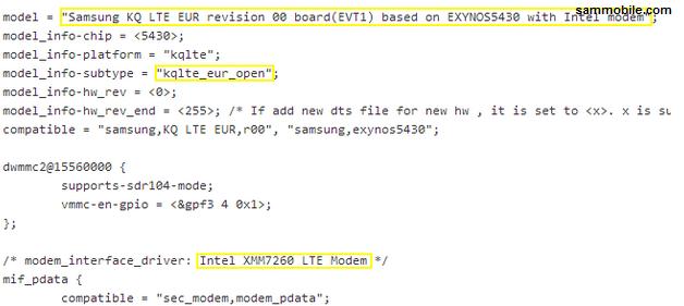 Samsung Proyect KQ filtración