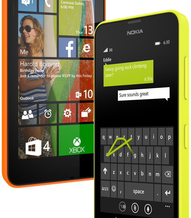 Lumia 635 Windows Phone 8.1 nuevo teclado e imagen de fondo en Live Tiles
