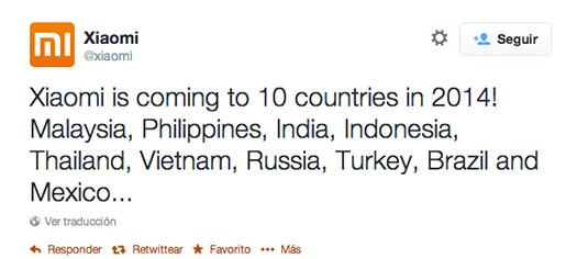 Xiaomi próximamente en México Twitter
