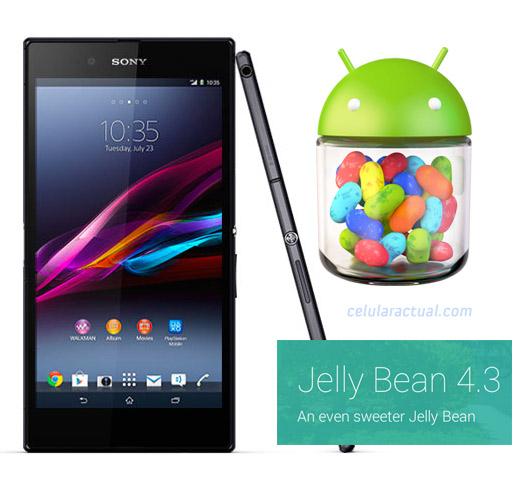 Sony Xperia Z Ultra con  Android 4.3 Jelly Bean en Telcel México