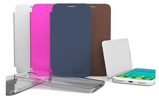 Alcatel One Touch Idol 2 Flip Case y Gel Skin
