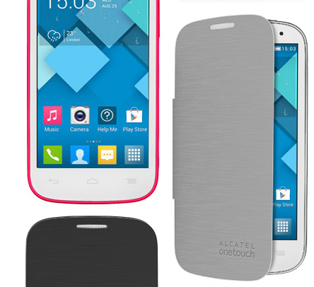 Alcatel One Touch Pop C5 en Movistar México FlipCover gris