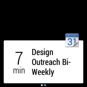Android Wear notificación calendario
