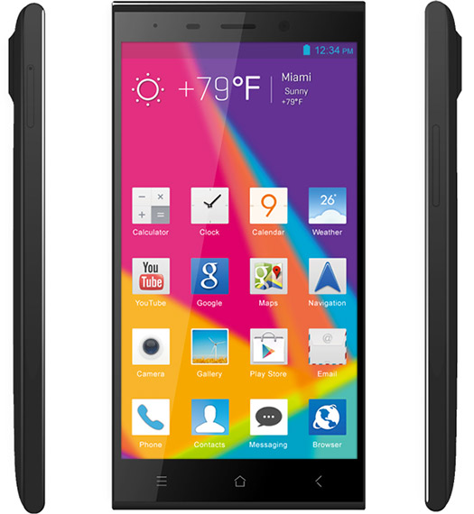 Blu Life Pure XL color negro pantalla HD