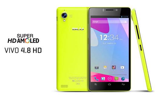 Blu Vivo 4.8 HD color brillante Pantalla Super AMOLED