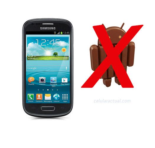 Samsung Gaaxy S III mini sin Android KitKat