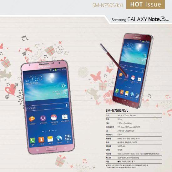 Samsung Galaxy Note 3 Neo en colores Rosa y Rojo