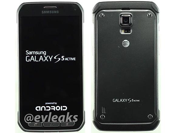 Samsung Galaxy S5 Active frente y tras