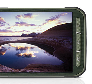 Samsung Galaxy S5 Active pantalla de lado botones físicos