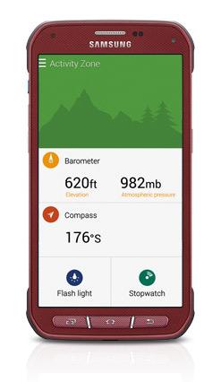 Samsung Galaxy S5 Active pantalla color Rojo