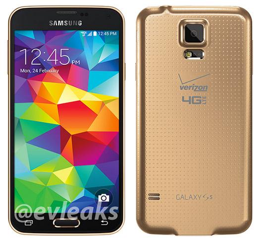 Samsung Galaxy S5 Gold official press imagen