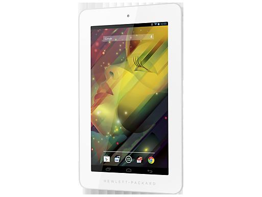 HP 7 Plus tablet frente pantalla de lado 2