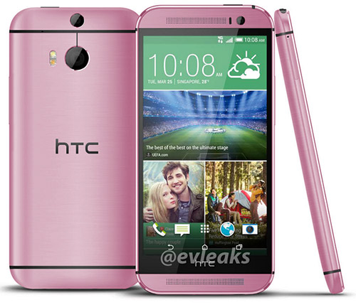 HTC One M8 en color rosa (Pink)
