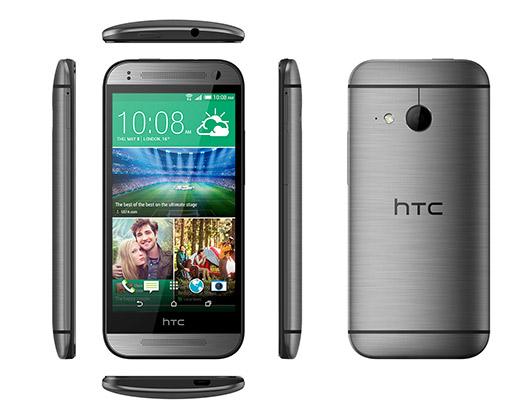 HTC One mini 2 oficial pantalla y cámara color gris dimensiones