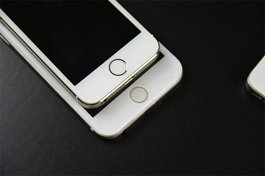 iPhone 6 dummy comparado con iPhone 5s pantalla botón Home Huella digital
