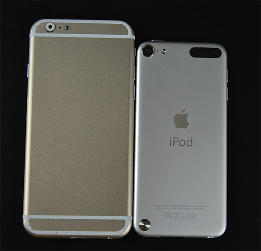 iPhone 6 dummy comparado con iPod Touch 5
