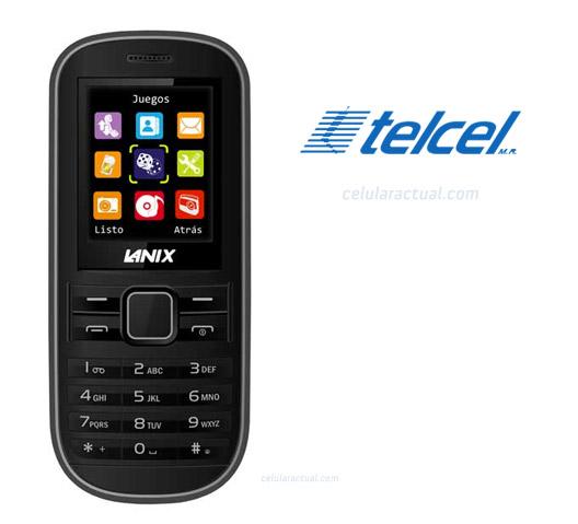 Lanix W32 en México con Telcel logotipos