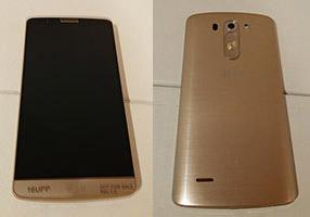 LG G3 en color Oro pantalla y cámara trasera
