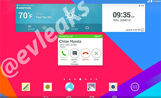 LG G3 oficial pantalla Home Lnadscape nueva interfaz