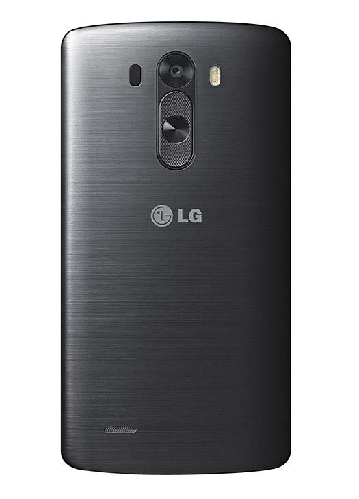 LG G3 oficial color Negro Metálico frente cámara trasera