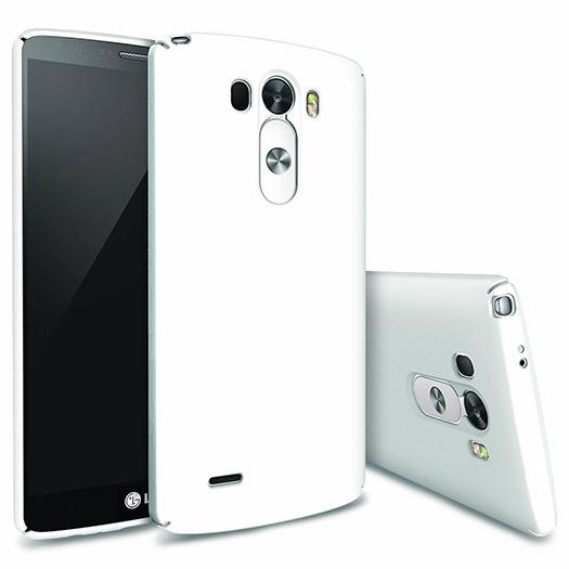 LG G3 con cubierta y gran altavoz color blanco