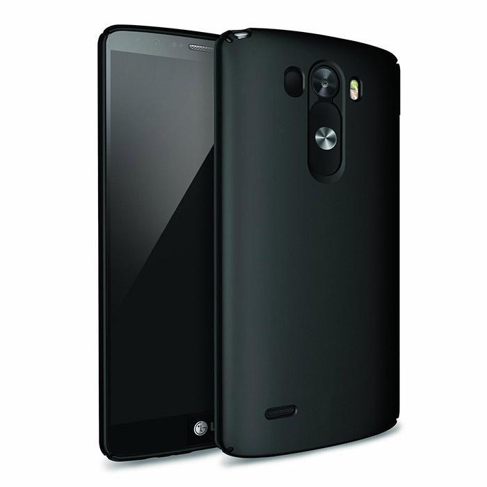 LG G3 con cubierta y gran altavoz color negro pantalla y cámara