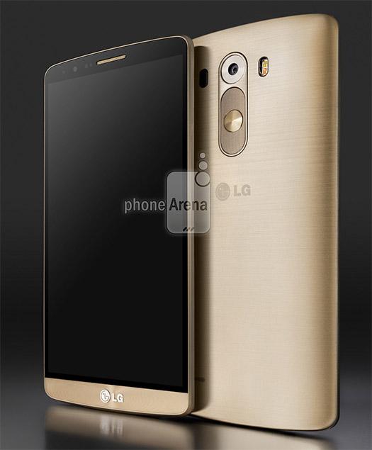 LG G3 render oficial para prensa color Oro