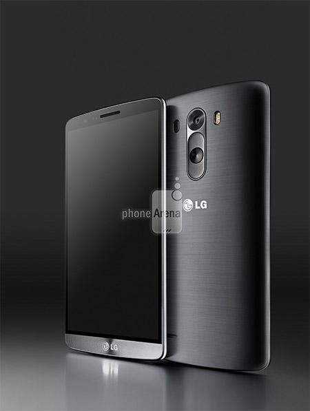 LG G3 render oficial para prensa color negro pantalla y cámara