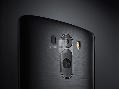 LG G3 render oficial para prensa color negro detalle cámara Flash LED Dual