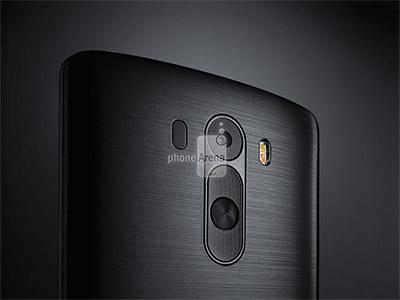 LG G3 render oficial para prensa color negro detalle cámara Flash LED Dual