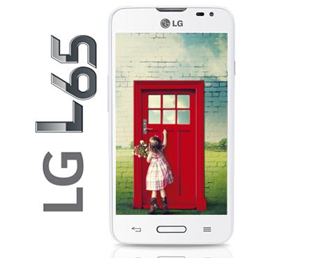 LG L65 color blanco pantalla Wallpaper