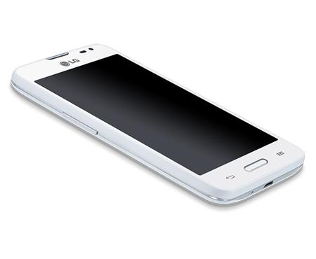 LG L65 color blanco pantalla de lado