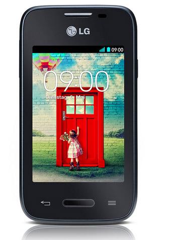 LG L35 color negro pantalla de 3.2 pulgadas