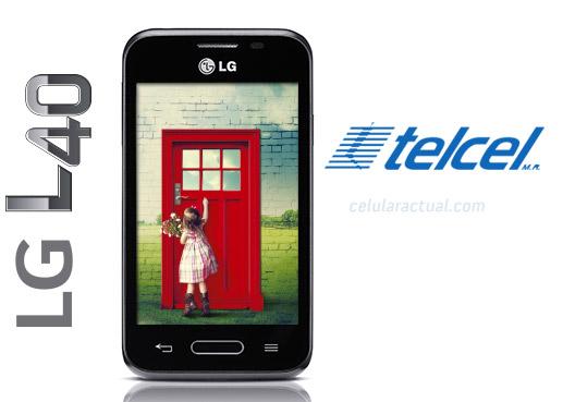 LG L40 ya en México con Telcel logotipos
