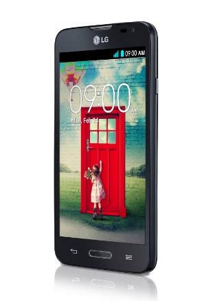 LG L70 D320F8 color negro pantalla de lado