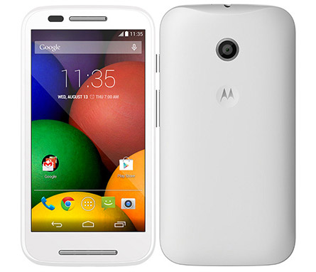 Moto E en México color blanco
