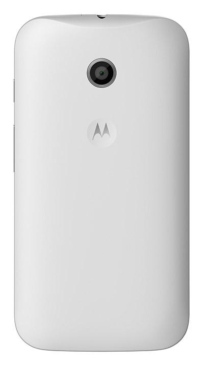 Moto E en México color blanco cámara trasera