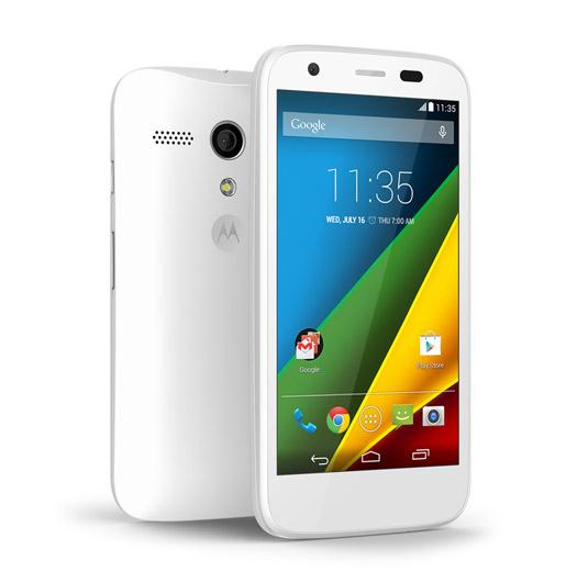 Moto G LTE color blanco pantalla frente y cámara trasera