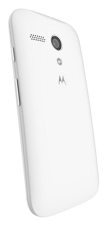 Moto G LTE color blanco parte trasera cámara