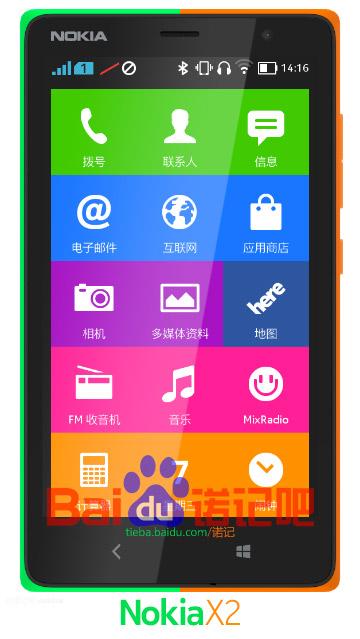 Nokia X2 No oficial render
