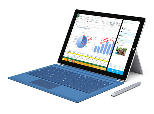Surface Pro 3 con teclado y Stylus