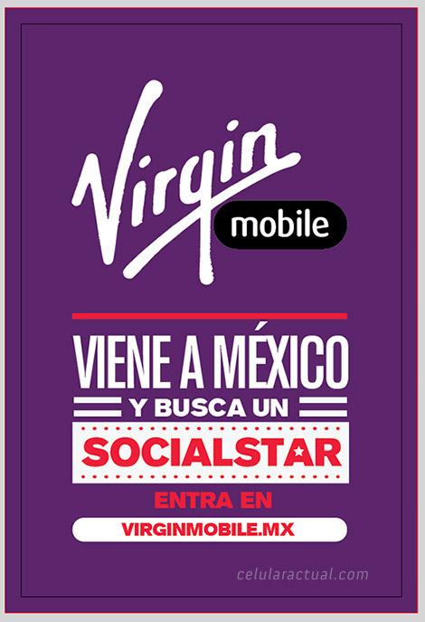 Virgin Mobile llega a México busca Socialstar póster