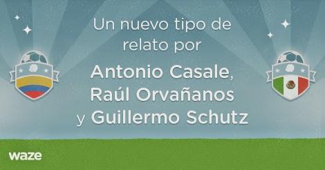 Waze con voces de  Raúl Orvañanos y Guillermo Schutz