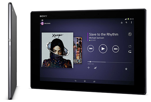 Sony Xperia Z2 Tablet Michael Jackson Music
