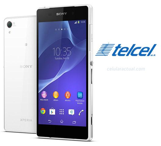 Sony Xperia Z2 en México con Telcel color blanco y negro