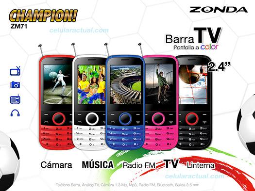 Zonda ZM71 Champion con TV gratis ya en México