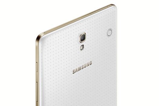 Samsung Galaxy Tab S 8.4 blanco cámara trasera 8 MP Flash LED