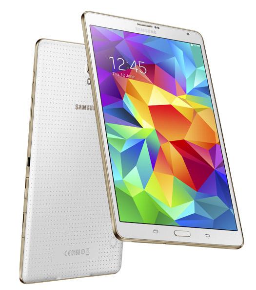 Samsung  Galaxy Tab S 8.4 blanco pantalla y cámara
